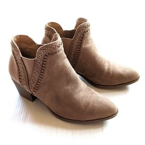 STYLE & CO pull-on tan faux suede ankle boots